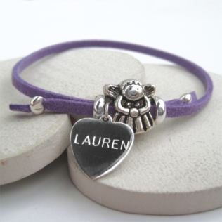 Engraved Fairy Suede Bracelet Product Image