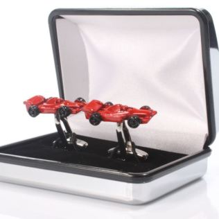 Personalised Red Racing Car Cufflinks Product Image