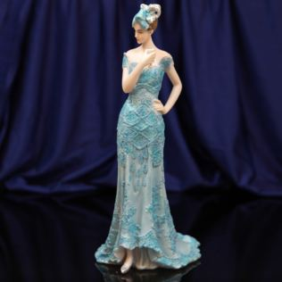 Bolero Collection Lady Figurine in Blue Dress 33cm Product Image