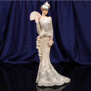 Bolero Collection Lady Figurine in Silver Dress 34.5cm Product Image