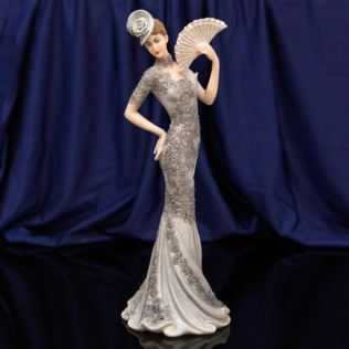 Bolero Collection Lady Figurine in Silver Dress 33.7cm Product Image