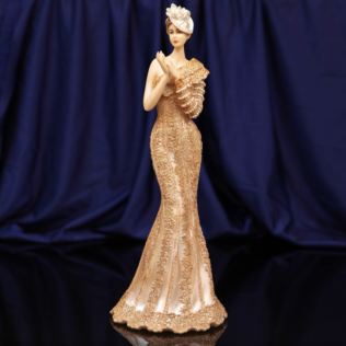 Bolero Collection Lady Figurine in Gold Dress 34cm Product Image
