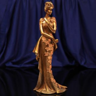 Raffles Collection Lady Figurine Bronze & Orange Finish 34cm Product Image