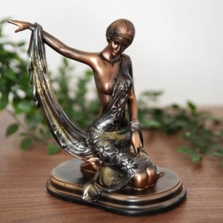 Silhouette Collection Lady Figurine Bronze & Green 20cm Product Image