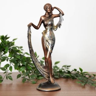 Silhouette Collection Lady Figurine Bronze & Silver 32cm Product Image