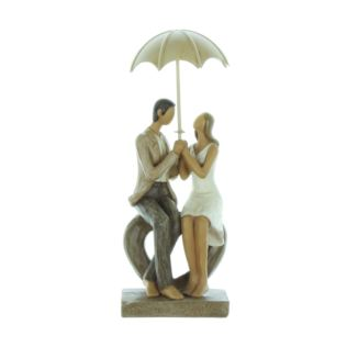 Rainy Day Collection Resin Figurine - Couple Seated Product Image