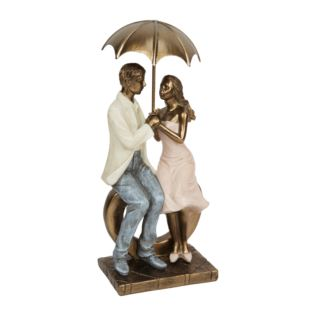 Rainy Day Collection Resin Figurine - Couple Sitting 26cm Product Image