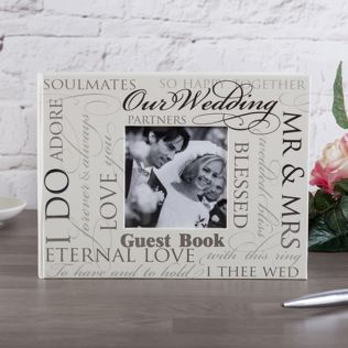 Wedding Script Guest Book Product Image