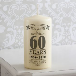 Personalised 60th Anniversary Candle Product Image