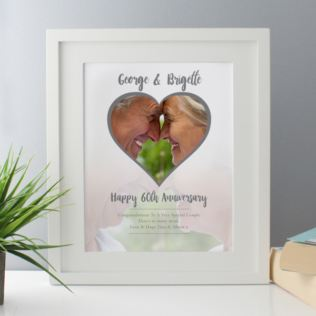 Personalised Diamond Wedding Anniversary Framed Photo Print Product Image