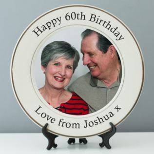 Personalised 60th Birthday Photo Plate Product Image