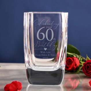Personalised 60th Birthday Vase Product Image