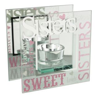 Celebrations Mirrored Glass Sister Tealight Holder Product Image