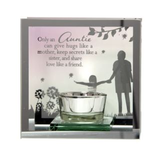 Reflections Of The Heart Mirror Tealight Holder - Auntie Product Image