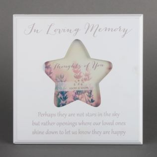 In Loving Memory Thoughts Of You Star Frame Product Image