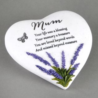 In Loving Memory Thoughts Of You Heart Stone - Mum Product Image