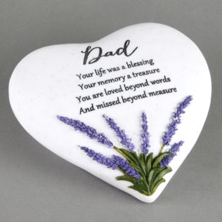 In Loving Memory Thoughts Of You Heart Stone - Dad Product Image