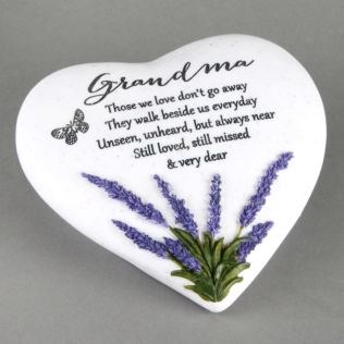 In Loving Memory Thoughts Of You Heart Stone - Grandma Product Image