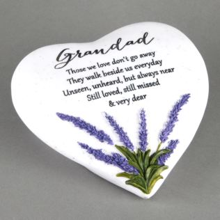 In Loving Memory Thoughts Of You Heart Stone - Grandad Product Image