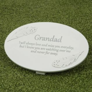 Thoughts of You Resin Memorial Plaque - Grandad Product Image