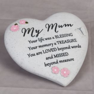Thoughts Of You 'Mum' Graveside Heart Product Image