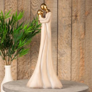Stone Portrait Resin Figurine - Couple Embracing 37.5cm Product Image