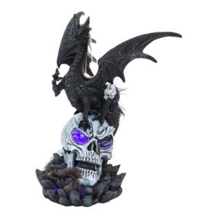 Mystic Legends Grey Dragon & Skull Figurine Product Image