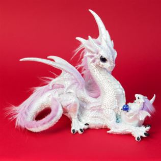 Mystic Legends White Dragon & Baby with Lilac Crest Product Image