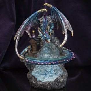 Mystic Legends Blue Dragon Oil Burner 24cm Product Image