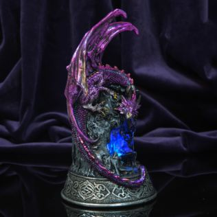 Mystic Legends Purple Dragon Figurine with LED Light Up Base Product Image