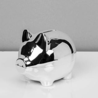 Bambino Silver Plated Piggy Bank Money Box Product Image