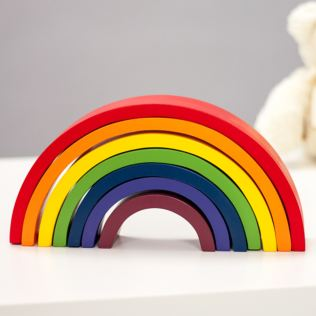 Rainbow Wooden Building Blocks Product Image