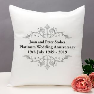 Personalised Platinum Anniversary Cushion Product Image