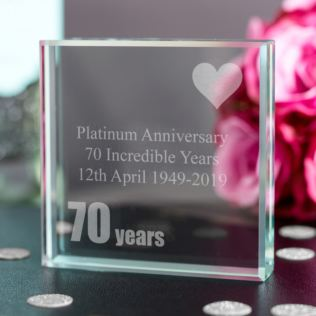 70th Platinum Anniversary Keepsake Product Image