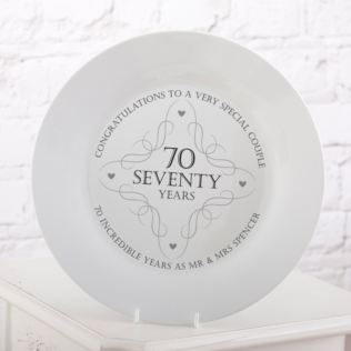 70th Anniversary Plate Product Image