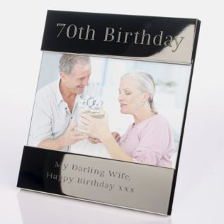 Engraved 70th Birthday Photo Frame Product Image