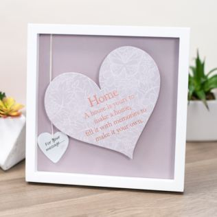 Home Sentiment Heart Art Frame Product Image
