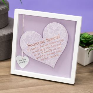 Someone Special Sentiment Heart Art Frame Product Image