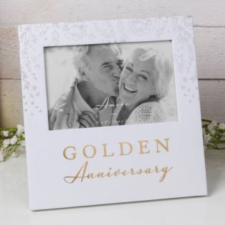 "6"" x 4"" - AMORE BY JULIANA® Photo Frame - Golden Anniversary Product Image"