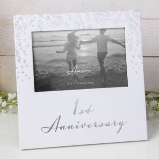 "6"" x 4"" - AMORE BY JULIANA® Photo Frame - 1st Anniversary Product Image"