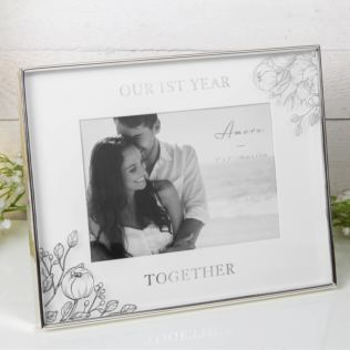 "7"" x 5"" - AMORE BY JULIANA® Photo Frame - 1st Year Together Product Image"