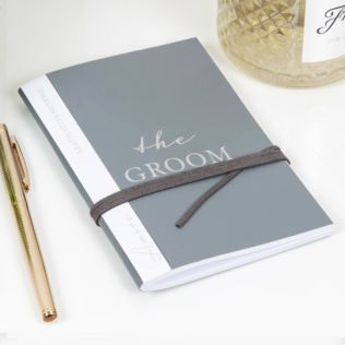 AMORE BY JULIANA® Leatherette The Groom A6 Notebook Product Image