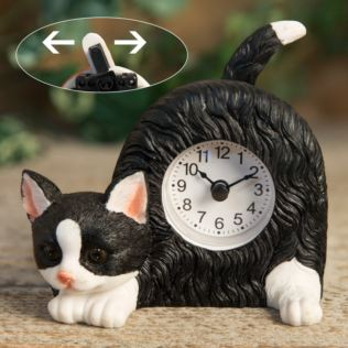 Best of Breed - Black & White Cat Mantel Clock Product Image