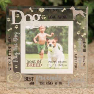 "4"" x 4"" - Best of Breed Glass Photo Frame - Dog Product Image"