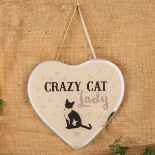 Best of Breed Glass Heart Plaque - Crazy Cat Lady Product Image