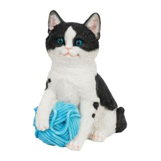 Best of Breed Collection - Black & White Cat with Blue Wool Product Image