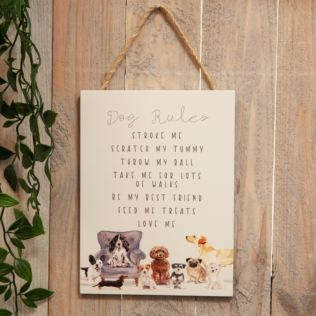 Best of Breed Wooden Hanging Dog Rules Plaque Product Image