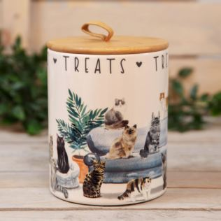 Best of Breed Ceramic Treat Jar - Cat Product Image