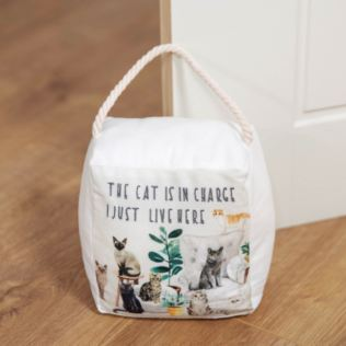Best of Breed Doorstop - The Cat Is In Charge Product Image