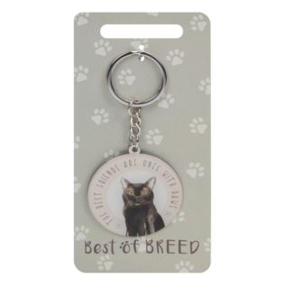 Best Of Breed Keyring - Black Cat Product Image